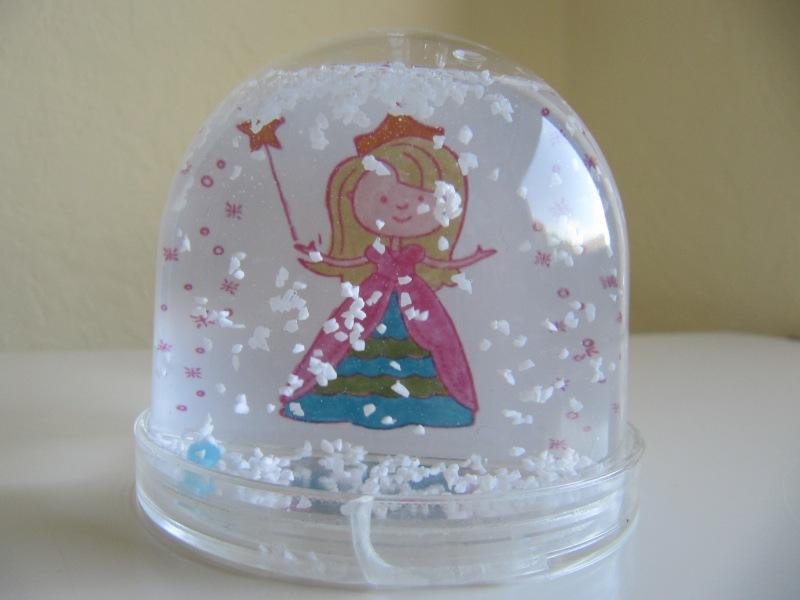 Schneekugel mit Prinzessin