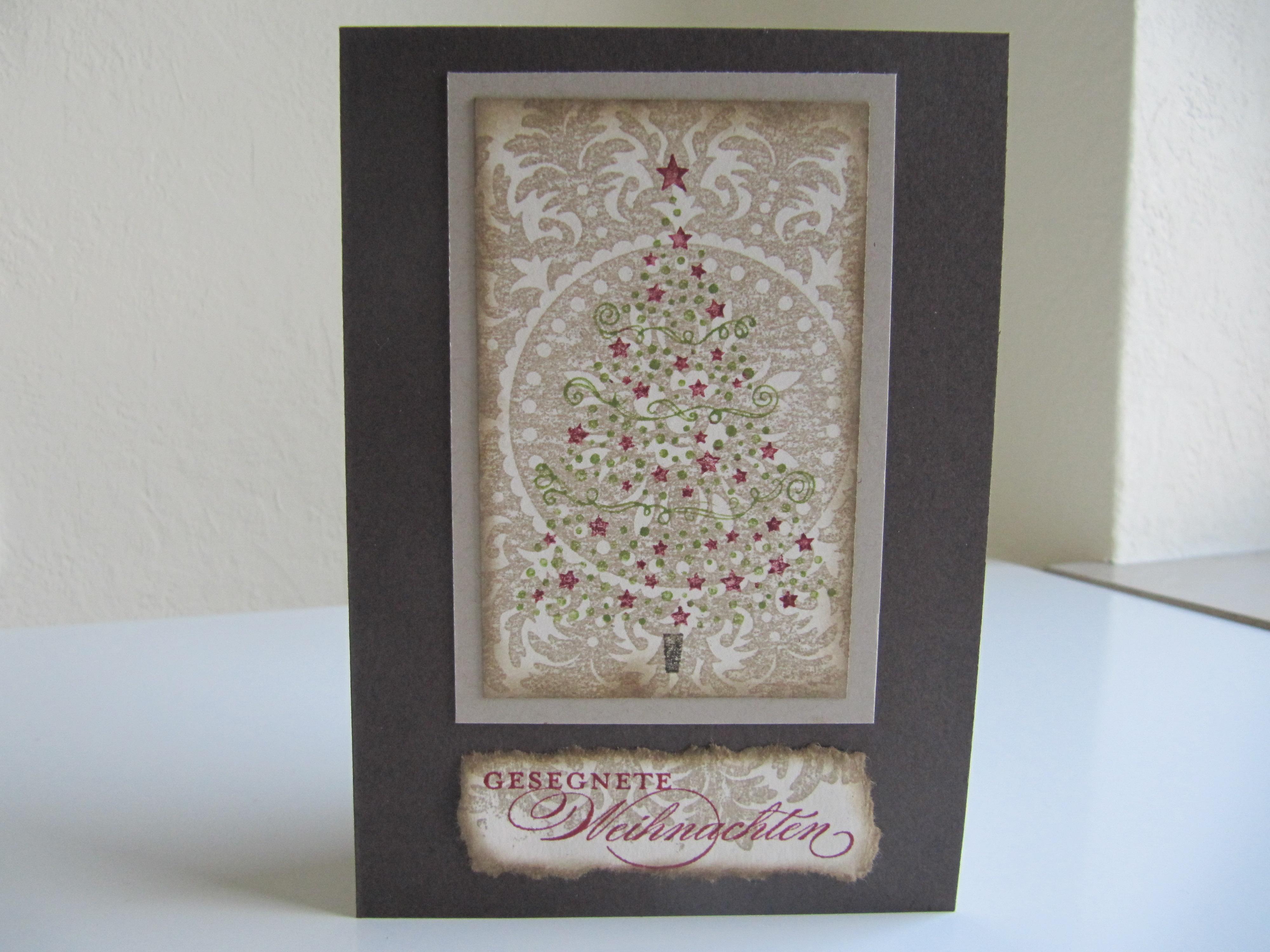 stampin up weihnachtskarte edel stempelfreundin. Black Bedroom Furniture Sets. Home Design Ideas